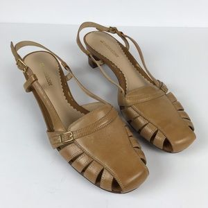 Naturalizer Dora Tan Slingback Strappy Shoes 9.5 W